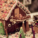 gingerbread house with bear