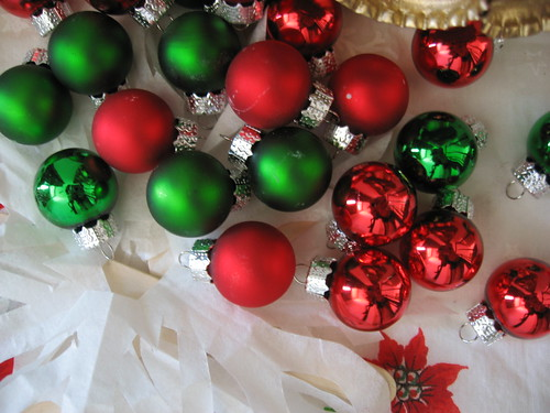 green + red ornaments