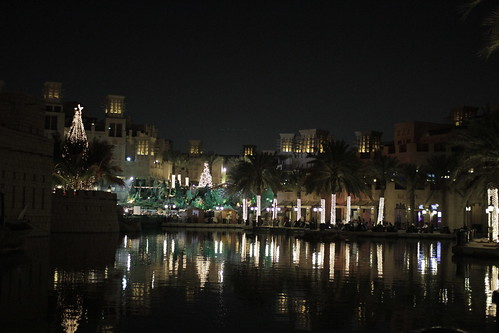 Mina Salam at night