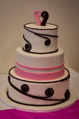 Koru Pink wedding cake