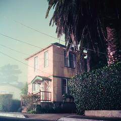 (m. wriston) Tags: california longexposure house color 6x6 film night mediumformat suburbs pacificgrove yashicamat124g autaut kodakektar100