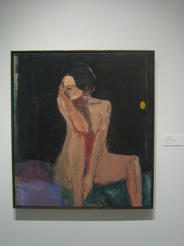 Seated Nude - Arm on Knee, 1962,Oil on Canvas, Richard Diebenkorn, Oakland Art Museum _ 9474