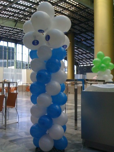 0081-ballonpilaar-breed-rond Bedrukt WTC Rotterdam