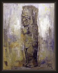 TOLLAN-ATLANTES-GIGANTES-ANUNNAKI-ANUNNAKIS-ATLANTIDA-XICOCOTITLAN-EXTRATERRESTRES-MESOAMERICA-PINTURA-ARTE-ERNEST DESCALS (Ernest Descals) Tags: art mexico mesoamerica paint arte alien paintings esculturas books images ufo atlantis paint