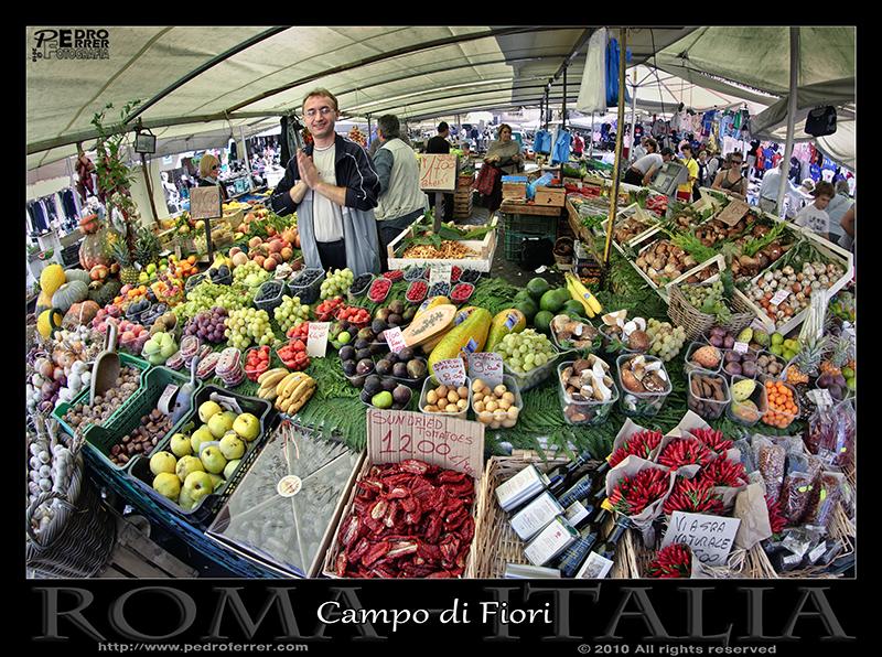 Roma - Campo di Fiori. Mercado
