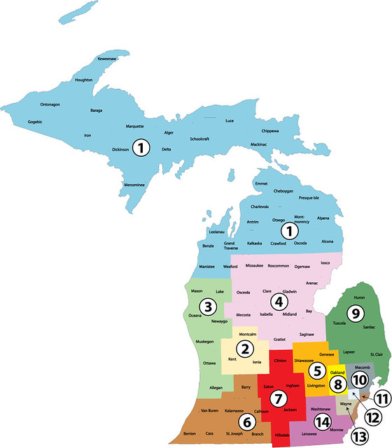Michigan Congressional Districts 2012 Hypothetical