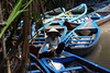 The Sampan Woman (marcusorange) Tags: travel blue water colors canon river boats colours delta row vietnam waters mekongdelta mekong sampan mekongriver 60d