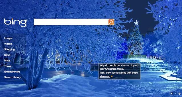 Bing Christmas Logo