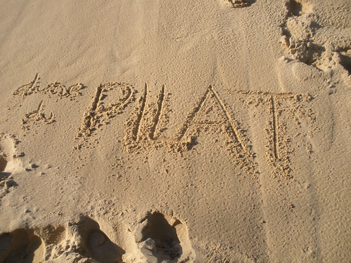 Sand graffiti