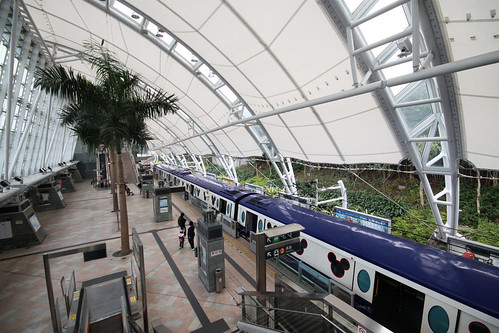 Sunny Bay station, platforms for the Disneyland Resort Line