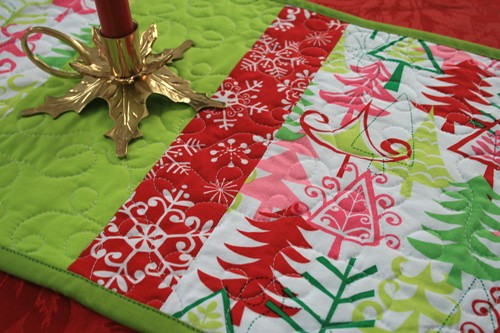 wonky star table runner