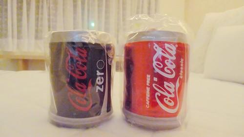 床墊秋刀魚換到兩瓶飄洋過海的香港大可樂