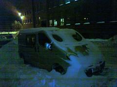 snowghost (neppanen) Tags: auto winter snow car finland helsinki ghost van lumi talvi paku kännykkä kummitus discounterintelligence pakettiauto sampen