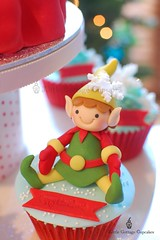 My Cute Elf 2 (Little Cottage Cupcakes) Tags: santa christmas snowflakes cupcakes elves fondant cupcaketower sugarpaste littlecottagecupcakes