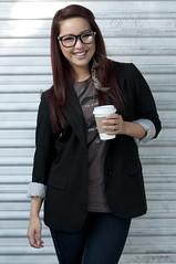 (DN Photography) Tags: urban costa nerd coffee model nikon photoshoot garage jeans jacket 28 mustache nikkor mesa vr irvine thelab 70200mm d300