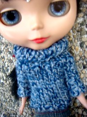 blythe's new knitted sweater