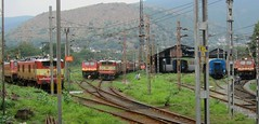 VSKP Electric Trip shed (Anindya Roy Photography) Tags: src indianrailways bza lgd irfca hwh wam4 wap4 vskp