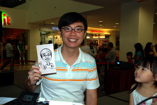 digital caricature live sketching @ Liang Court - day 3 - 2b