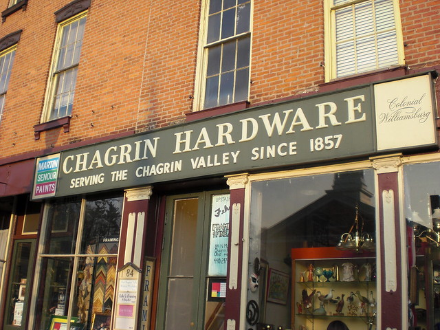 Chagrin Hardware & Supply Co, Chagrin Falls OH
