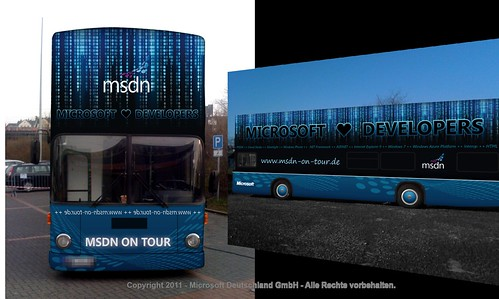 MSDN on Tour: Mock-up des MSDN Busses