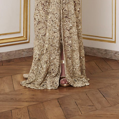 Givenchy F/W Couture 2010.1 (claire-olio) Tags: fashion gold hautecouture beading parisfashionweek givenchy detailshots