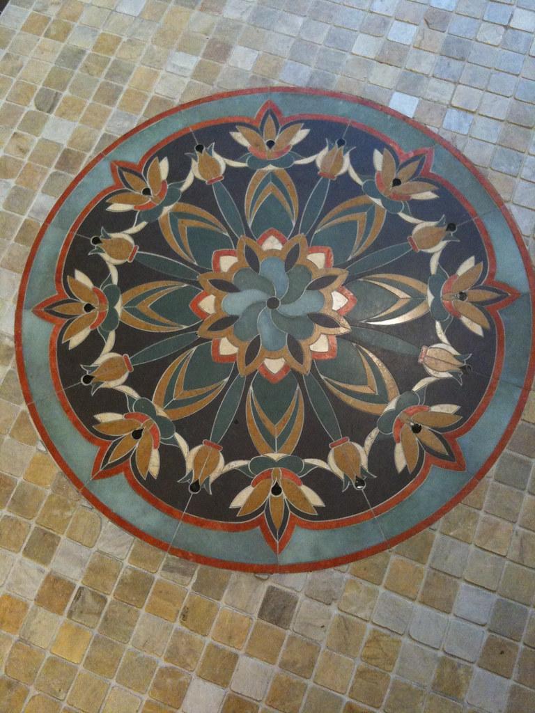 Floor tile medallion mosaic floor dailygadgetfo Gallery