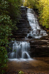 Panther Falls (Cecil Sanders) Tags: winter usa green alaska creek ga georgia landscape outdoors hiking clayton south scenic waterfalls ccc appalachian appalachia rabun knikriver pantherfalls cecilsanders