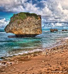 Yin & Yang (Andy BealPhoto.com) Tags: travel vacation beach coast nikon rocks barbados caribbean seashore hdr d90