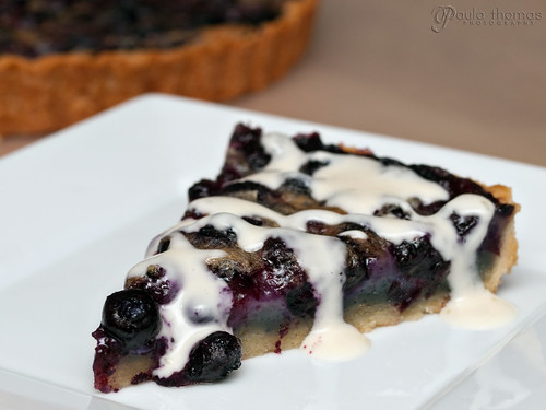 Blueberry Tart with Honeyed Creme Fraiche