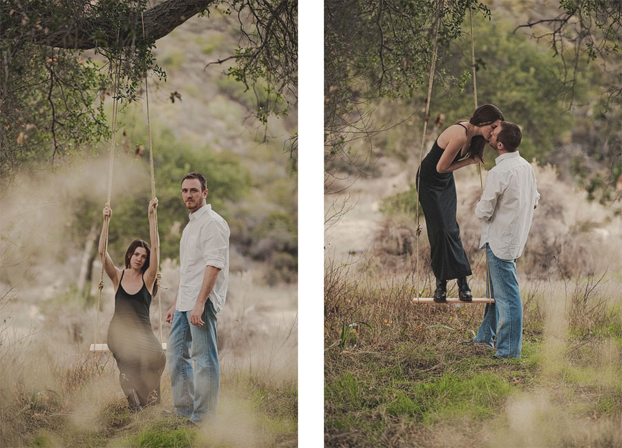 Orange-County-Rustic-Engagement-Photography-in-Silverado-Canyon-with-a-swing.-010