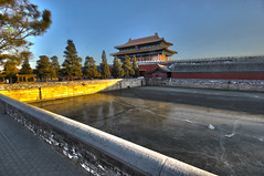 Sunset on the Forbidden City (joshbateman) Tags: china winter sunset ice beijing forbiddencity frozenriver