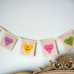Sweethearts Banner Fabric Applique