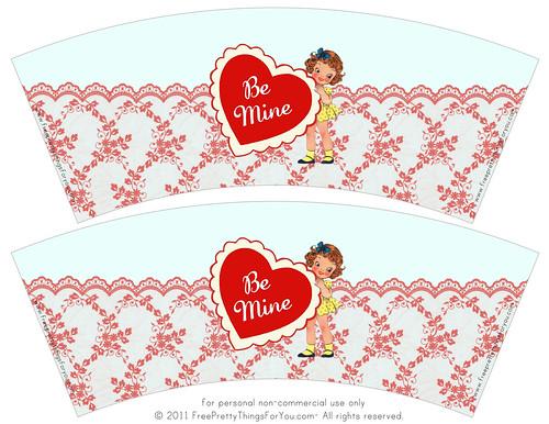 Freebie Vintage Valentine  Cup wrap 1