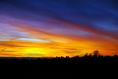 Tonights Sky (MBallard) Tags: blue sunset orange cold colors yellow clouds nikon texas d70 elkhart tonight