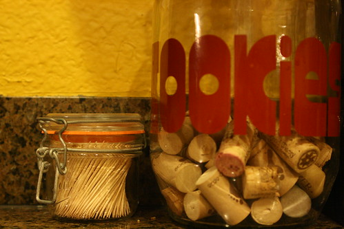 mason jar: toothpicks