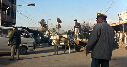 directing traffic
