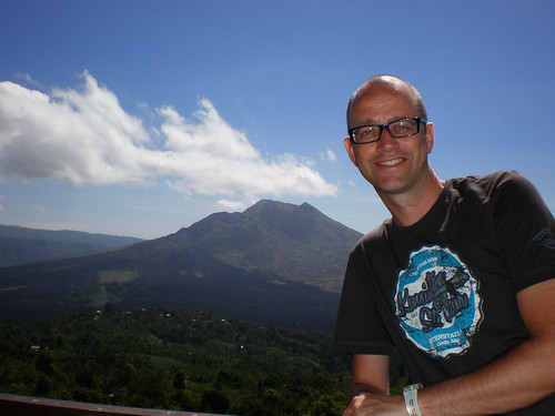 In front of Mt. Batur, Bali