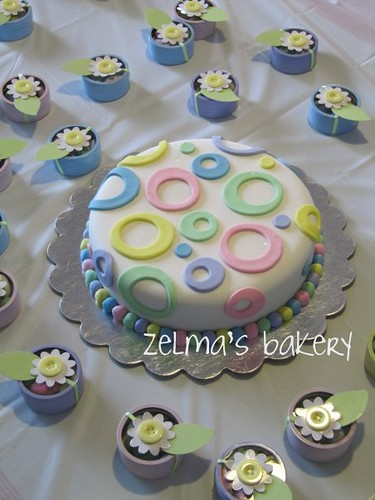 Baby Shower Circles Cake
