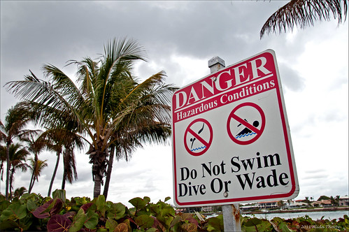 Danger at Jupiter Inlet by Alida's Photos