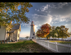 A Marblehead Morning (Theaterwiz) Tags: ohio lighthouse canon marblehead lakeview hdr criswell promote photomatix sanduskybay canon1022efs highdynamicrangephotography canon7d 11exposures topazadjust promoteremotecontrol theaterwizphotography michaelcriswell