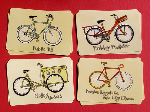 bicycle postcard set