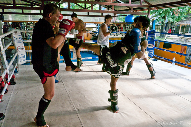 tourist trains at Rawai Muay Thai