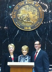 Rep. Sue Ellsperman with Pat and Dan Koch