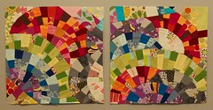OScrappyBee: Rainbows for Kristine (angefasu) Tags: quilt september block quiltingbee onescrappybee
