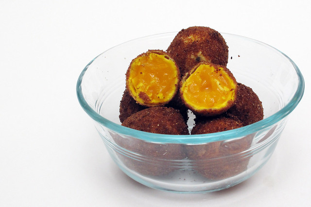 Deep Fried Sous Vide Egg Yolks