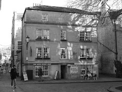 Bath sweets and buns (amy's antics) Tags: street windows people building glass lamp stone table chairs shops cobbles bzth