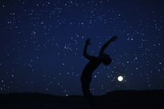 Peter Pan (Stephen Beadles) Tags: blue sky moon silhouette night dark stars photography hands stephen 365 beadles stephenbeadles
