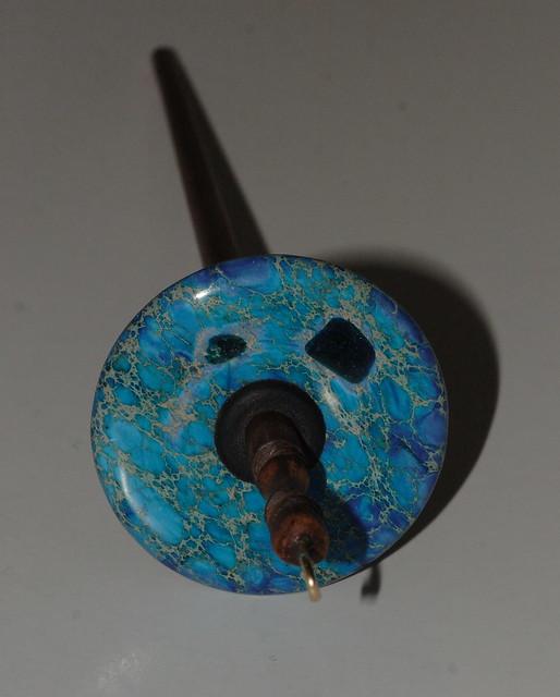Pakke fra Zebisis Designs - Drop Spindle med Blue Varicite stein.  IMG_4222