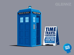 Time Travel Convention T-shirt (Glennz Tees) Tags: art nerd fashion illustration golf prime design funny geek transformer drawing humor cartoon tshirt adobe optimus illustrator draw cart popculture tee vector ai apparel glenz minimus glennjones glenjones glennz gleenz glennnz
