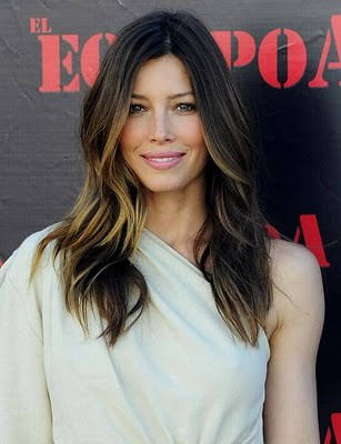 jessica biel hair color. Jessica Biel Ombre Hair Color